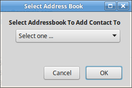 Add To Addressbook Dialog
